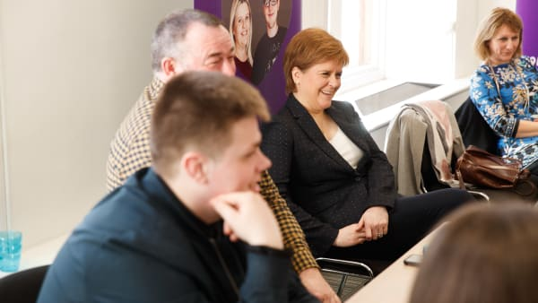 Staf hosts First Minister meeting with care-experienced young people and workers