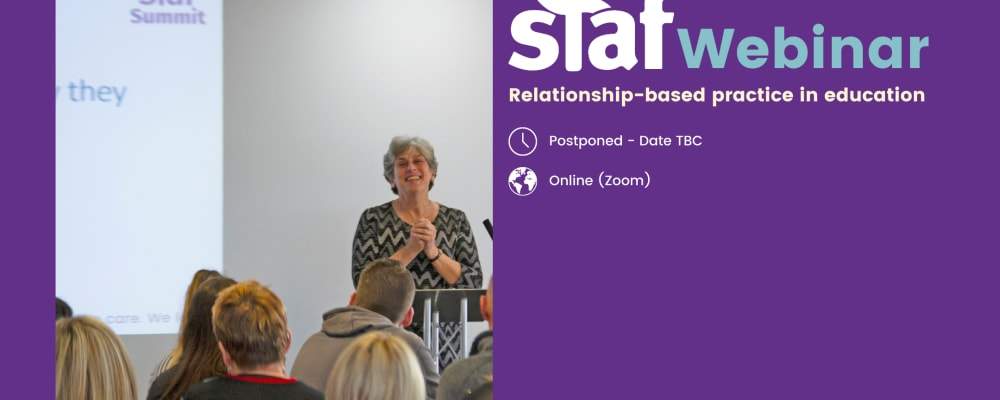 Staf Webinar: Relationship-based Practice in Education